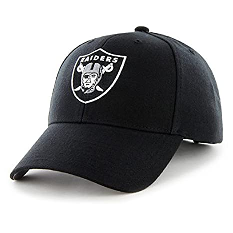 4cb46c63 '47 Oakland Raiders Hat NFL Authentic Brand MVP Adjustable Velcroback Black  Football Cap Adult One Size Men & Women 85% Acrylic,15% Wool