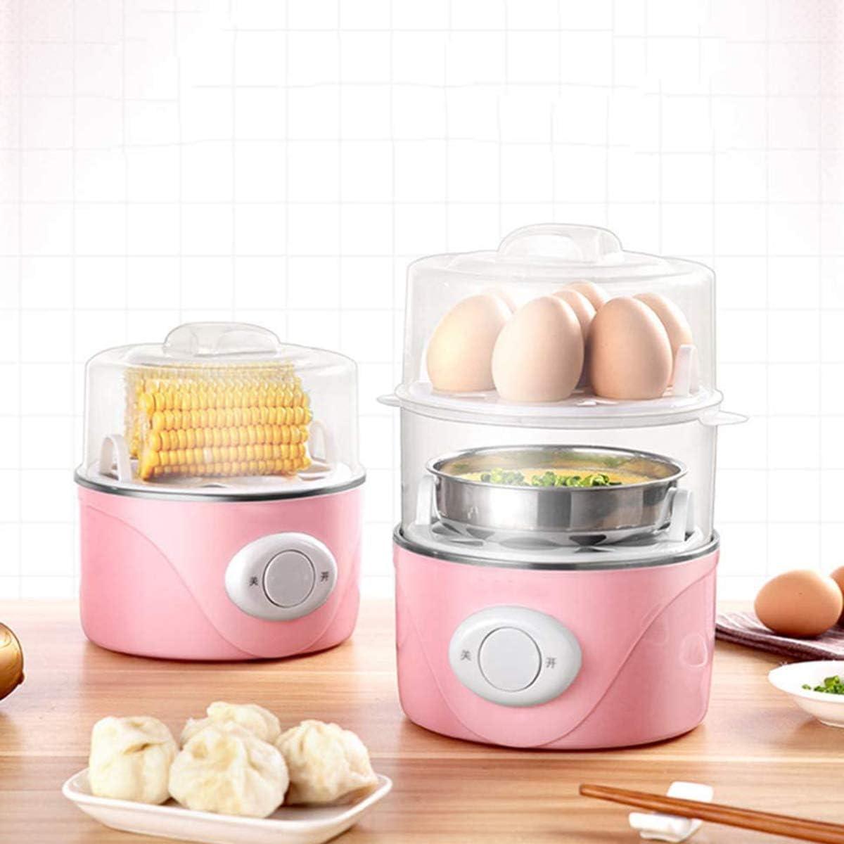 Uovo vapore, spegnimento automatico per cucinare le uova 1-Person colazione Macchina con Low Power Egg Artefatto Adatto per le uova, mais, ecc,Giallo Yellow
