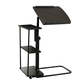 doeworks - Mesilla auxiliar para cama (con ruedas, altura ajustable para portátil escritorio móvil, sofá mesa: Amazon.es: Oficina y papelería
