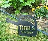 Custom Name Metal Watering Can Garden Sign UNIQUE 16'' wide x 11.5'' tall. Grandma Grandpa's Name Mom's Nana's Garden Sign- Customize it!