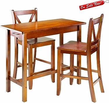 BADA Shop - Juego de mesa de bar con taburetes para encimera, mesa ...