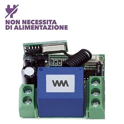Kit Automático receptor interruptor Wireless RF 433 MHz para electrocierre cerradura eléctrica de 12 – 30