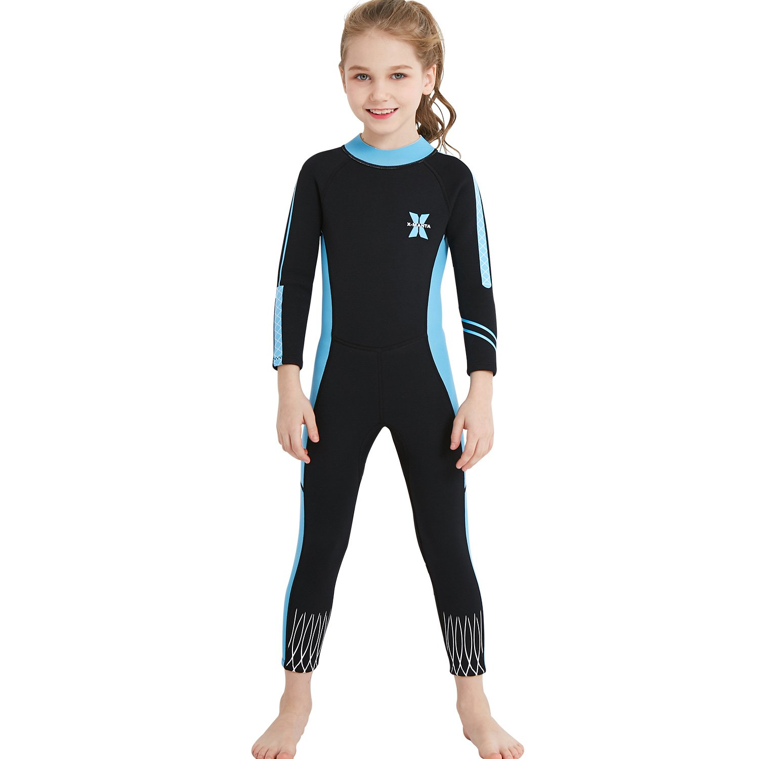 d139c3ac35 Gogokids Kids Wetsuit Boys Girls Rash Guard One Piece Thermal Swimsuits  2.5mm Neoprene Diving Snorkelling Suit UV 50 Sun Protection