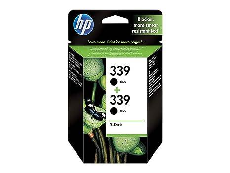 HP Paquete de 2 cartuchos de tinta negra para inyección de ...