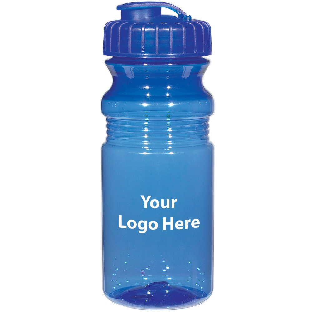 """Poly-Clear 20 Oz. Fitness Bottle with Super Sipper Lid - 100 Quantity - $1.85 Each - Promotional Product/Bulk with Your Logo/Customized. Size: Approx 7-1/2"""" Tall x 3""""Diameter"""