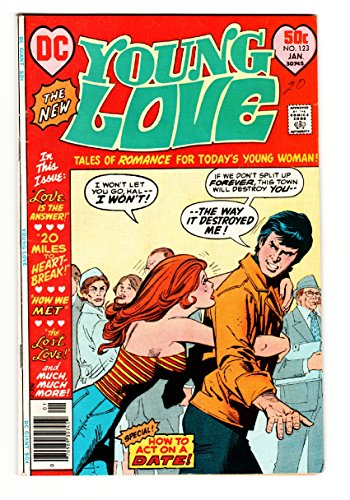 Young Love #123 comic book 1977- DC Romance- Side boob Headlight cover VG