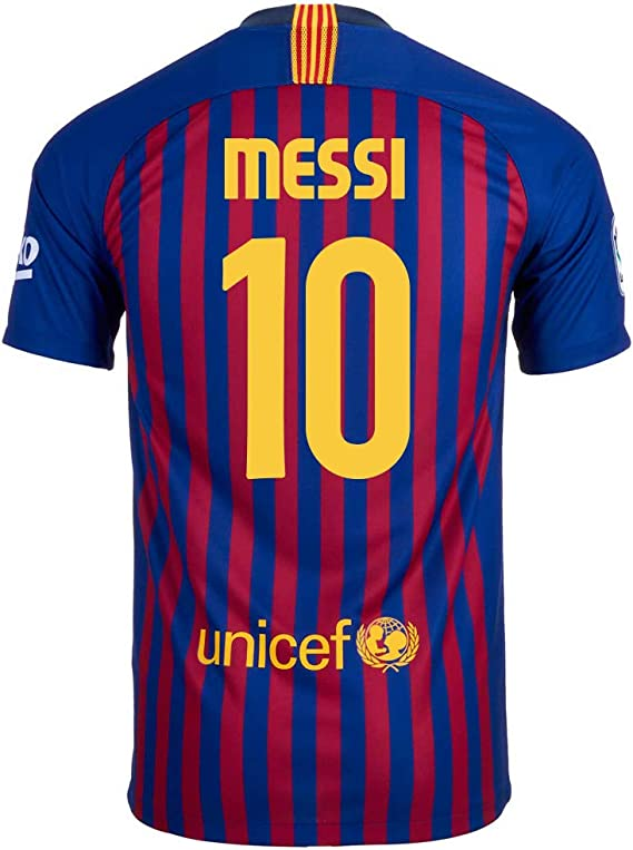 Amazon Com Nike Messi 10 Fc Barcelona Home Youth Soccer Jersey 2018 19 Clothing