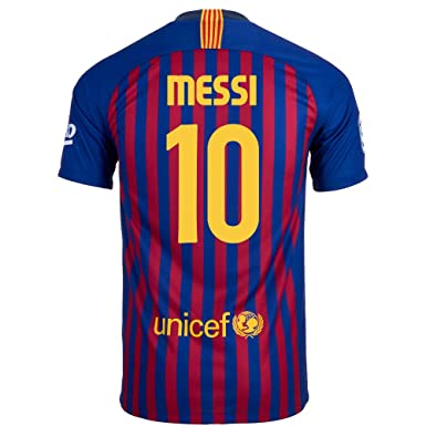 6d173d44c Amazon.com  Nike Messi  10 FC Barcelona Home Youth Soccer Jersey ...