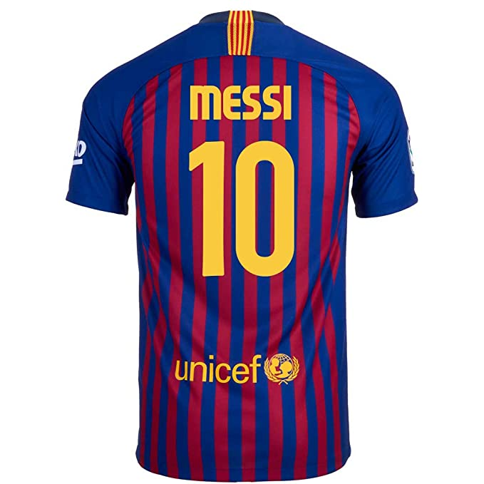 best website de2fb f0796 Nike Messi #10 FC Barcelona Home Youth Soccer Jersey 2018-19 ...