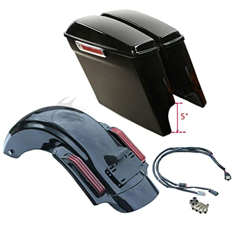 TCMT LED CVO Style Rear Fender System Fits For Harley Touring Street Electra Glide 2009-2013