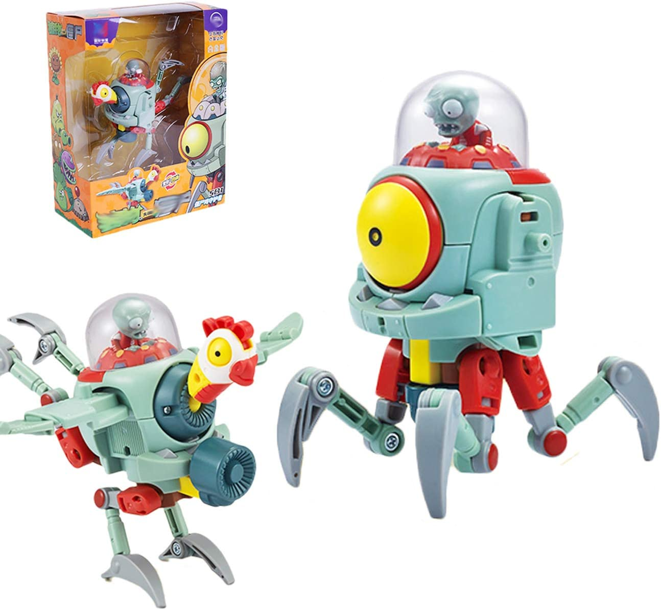 Plants vs. Zombies 2 Figures Series PVC Toys Action Playset deskgame for Boys 6,7,8,9,10,11 Age,Great Gifts for Kids and Fans,Birthday and Christmas Party (Zombie Chicken)