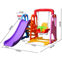 Colorful 3 in 1 Slide and Swing Play Set
