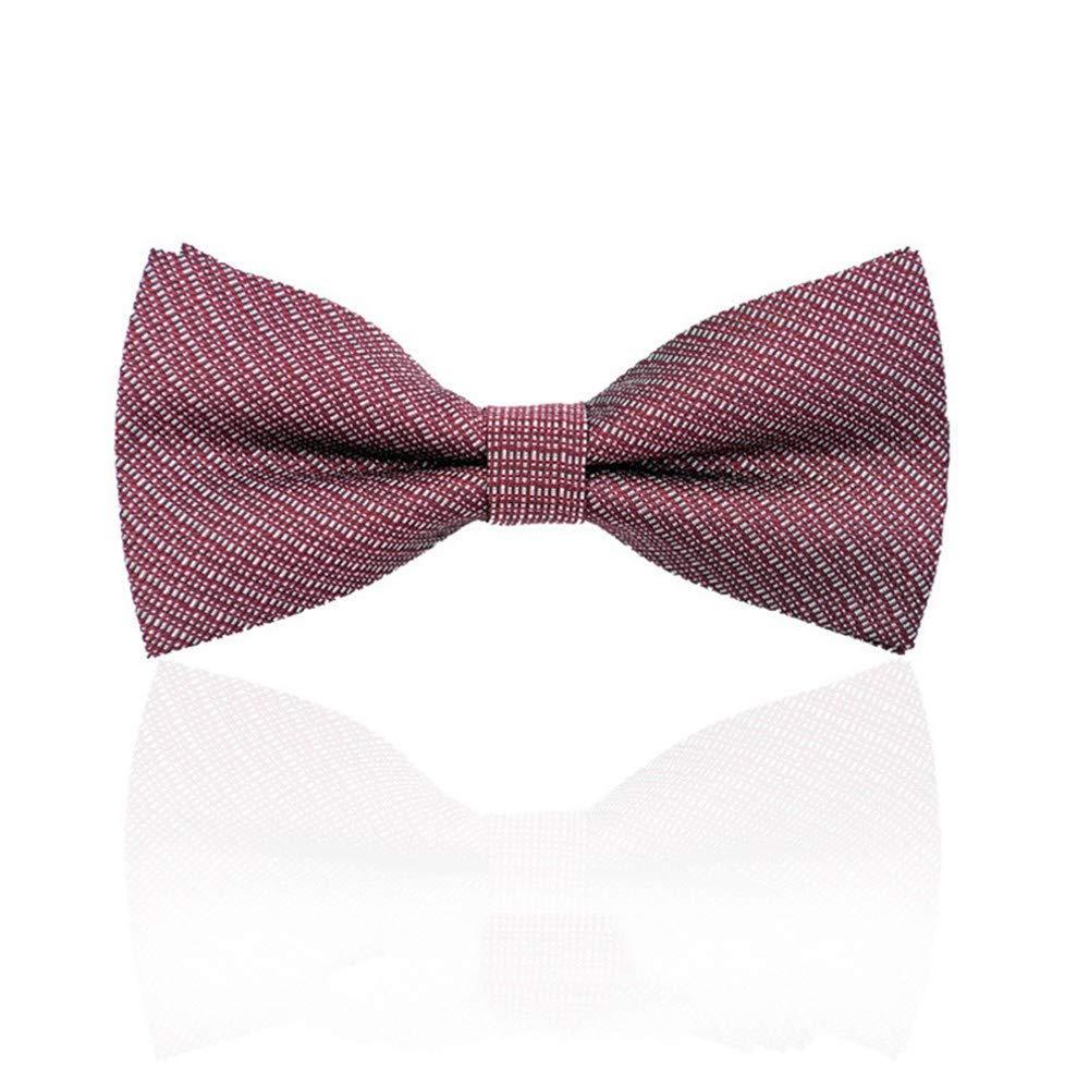 NRUTUP Mens Bow Tie Neck Clip-on Solid Color Fancy Dress Wedding Pre Tied Adjustable Hot Sales(G,Free Size)