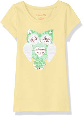 Colette Lilly Girls Short Sleee Sequin Tee Short Sleeve T-Shirt