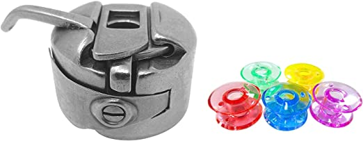 ZickZackNaehmaschine Bobina Cápsula + 5 Colores de plástico ...