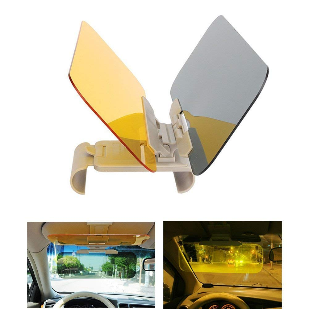Hltd Car Sun Visor Extender, 2 in 1 HD Day and Night Anti Glare Car Windshield Driving Visor