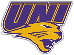 Northern Iowa Panthers Sticker (Any Size) UNI Iowa State University Stickers Decal Vinyl for car bamper Truck, hemlet, Laptop, tumblers, Team Logo NCAA Football (12 inch)