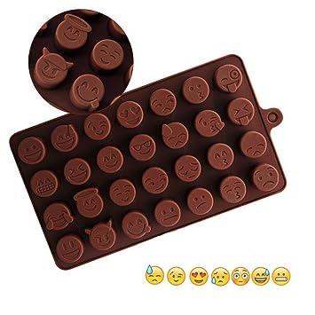 Kicoco QQ Expression Moldes de silicona para chocolate, dulces, hielo, cubitos de hielo