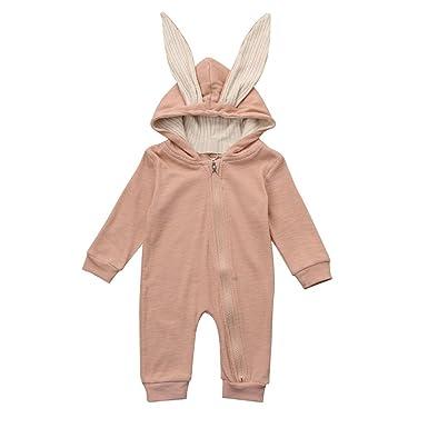 DRESS_start Ropa Bebé ReciéN Nacido De AlgodóN, Conejo 3D Ear Warm ...