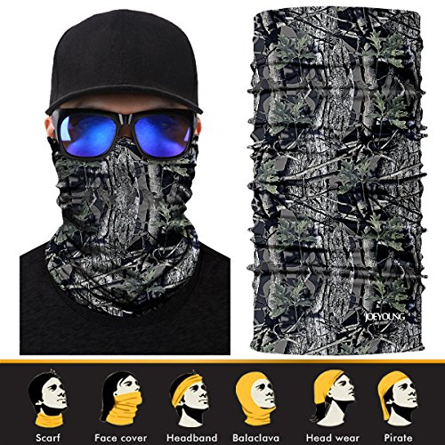 (JOEYOUNG 3D Headwear, Skull Face Mask, Magic Scarf, Neck Gaiter, Bandana, Balaclava, Headband for Cycling, Motorcycling, Running, Skateboarding, Moisture Wicking UV Protection, Great for Men & Women)