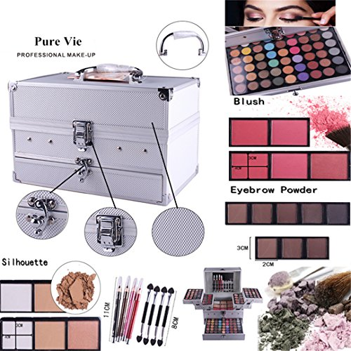 Pure Vie 132 Colors All in one Makeup Gift Set including 94 Highly Pigmented Shimmer and Matte Eyeshadow palette, 12… 3