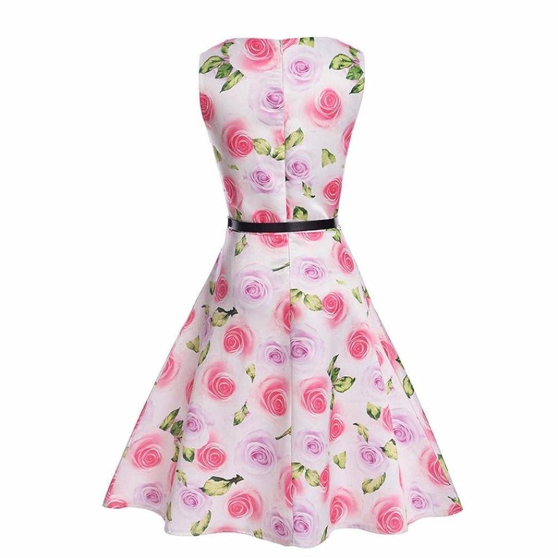 NINGSANJIN NINGSANJIN Mädchen 1950er Vintage Retro Party Kleid ...