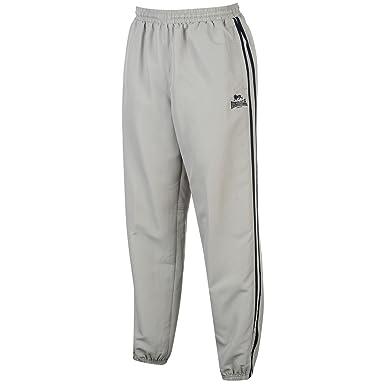 Lonsdale - Pantalón Deportivo - para Hombre Gris/Bleu Marine S ...
