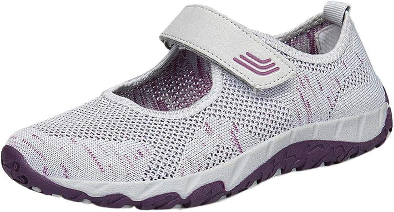 Logobeing Zapatosde Mujer Zapatillas Respirable Mocasines Deportes Casual Sandalias Antideslizantes Fitness Correr Calzado Deportivo Zapatilla Malla Plataforma (38, Gris): Amazon.es: Zapatos y complementos