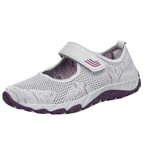 Logobeing Zapatosde Mujer Zapatillas Respirable Mocasines Deportes Casual Sandalias Antideslizantes Fitness Correr Calzado Deportivo Zapatilla Malla ...