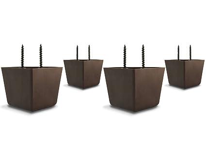 Set Of 4 Universal Plastic Furniture Triangle Legs W/ Screws   Sofa/Couch/