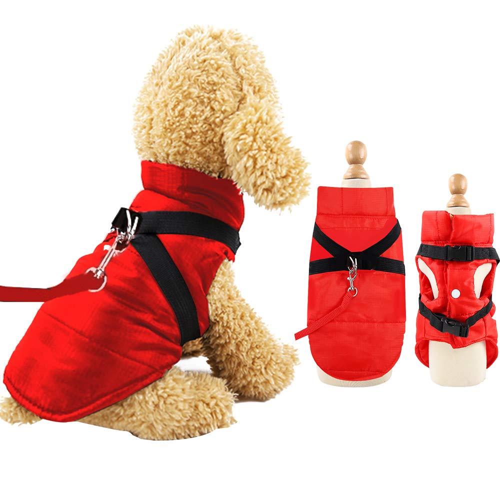 Eastlion Chaqueta de Perro para Invierno Impermeable Abrigo c/álido Ropa de Chaleco para Perros,Negro,L
