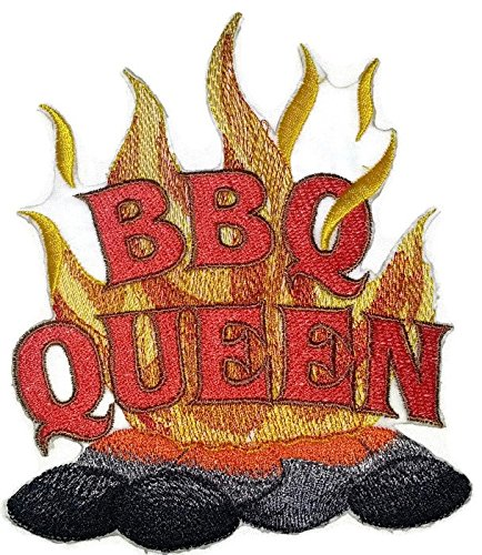 Lets go outback for BBQ Apron Design [BBQ Queen] Embroidered Iron On/Sew patch [5 X 6]Made in USA] (Best Bbq In Queens)