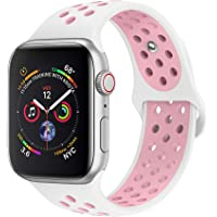 jwacct Cinturino Apple Watch Compatibile 38 mm 40 mm 42 mm 44 mm, Cinturino in Silicone Morbido per iWatch Series 4/3/2/1