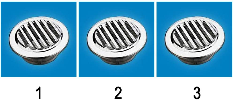 Wetterschutzgitter lamellengitter grille da/ération en acier inoxydable poli 100 mm dN