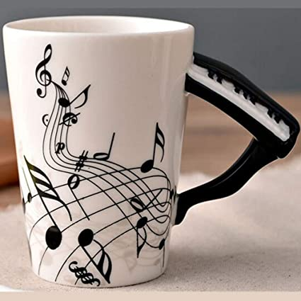 BonZeaL Piano Mug Ceramic Coffee Mugs Tea Cups Musical Music Lover Gift Birthday Gifts For