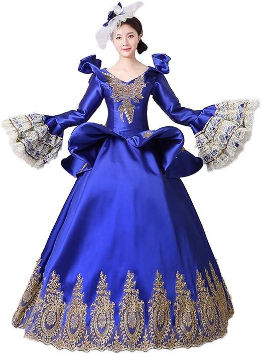 QJXSAN Medieval Renacimiento Falda de Mujer Fiesta Falda Larga ...