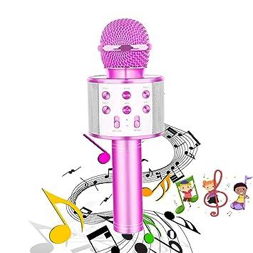 CYTK Toys Regalos para niñas de 3 a 12 años, Micrófono inalámbrico portátil Bluetooth Karaoke inalámbrico - Los Mejores Regalos de cumpleaños