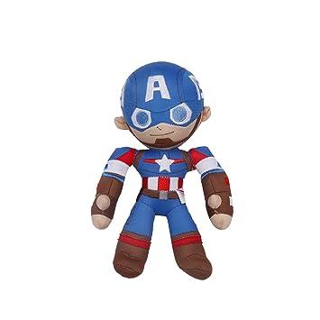 MINISO Marvel Plush Captain America, Soft Toys for Kids, Blue