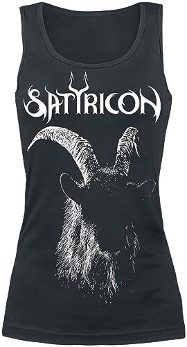 Satyricon Satyr Top Mujer Negro