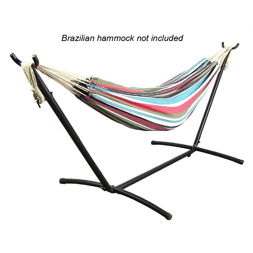 cotton ft texsport and arc person hammocks stands wood toss wide patio island walmartcom with double hammock bay pillow two rope stand