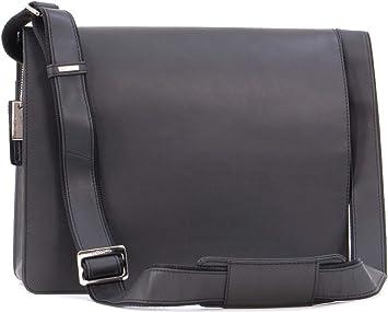 Contacts Leather Mens Messenger Shoulder Bag 13 Laptop Briefcase Handbag Dark Brown