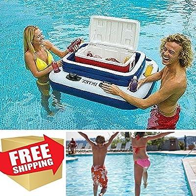 Party Pool Cooler,Inflatable Cooler Float,Beverage Cooler,Floating Drink Holder,Wine Cooler & EBOOK AWESOME HOME DECOR IDEAS