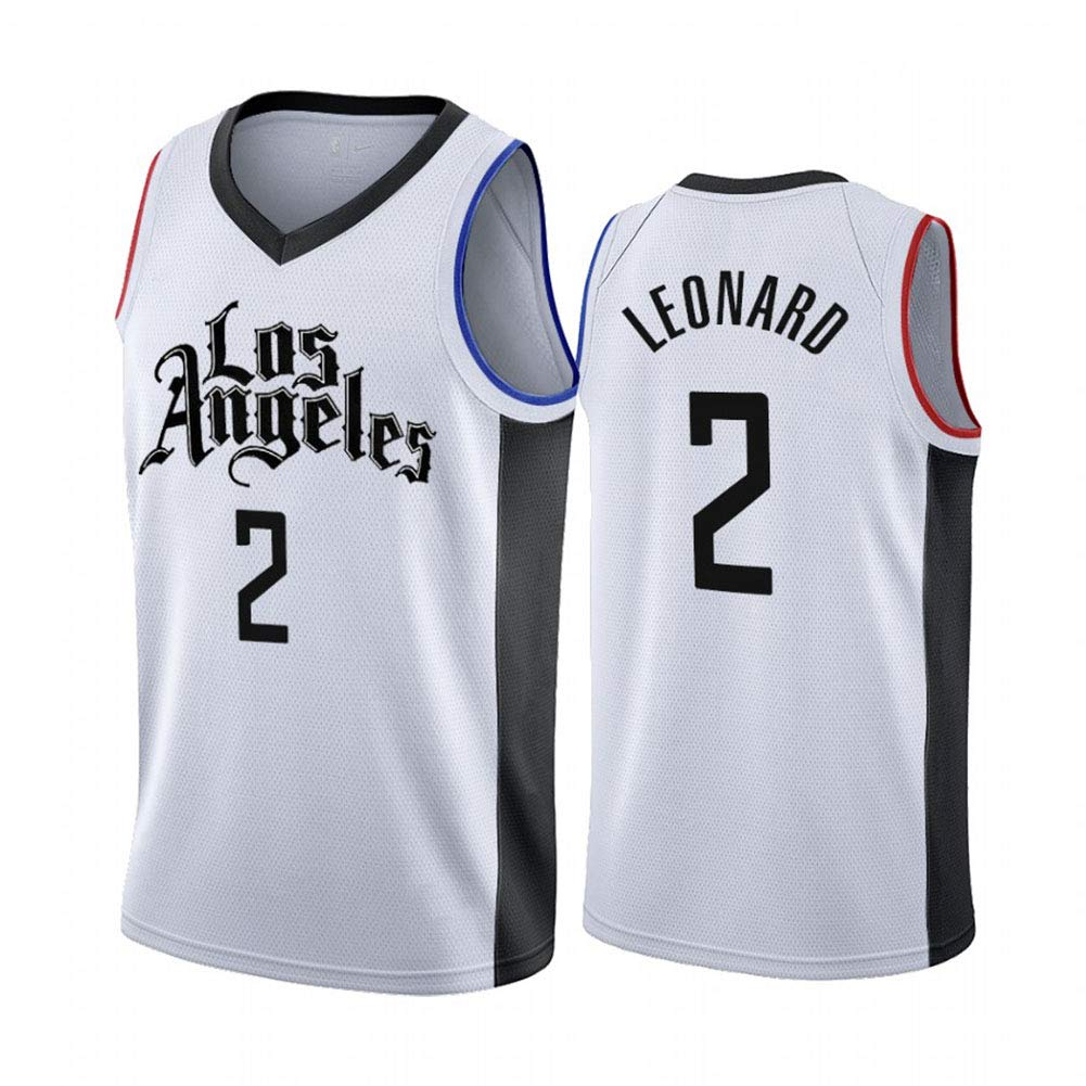 Hhwei Men S Basketball Jersey Nba New Jersey Embroidered Fabric Jersey Los Angeles Clippers Kawhi Leonard 2 L Buy Online In India At Desertcart