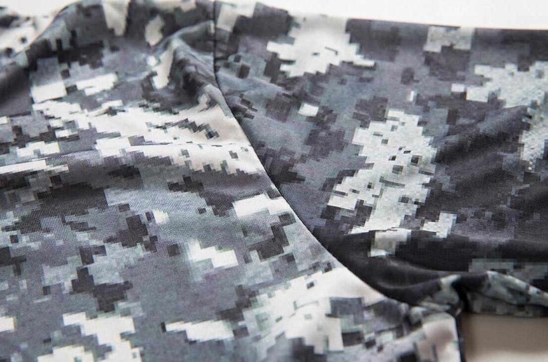 Hmarkt Mens Camouflage Short Sleeve Jersey Print Stylish Active Outdoor T-Shirt