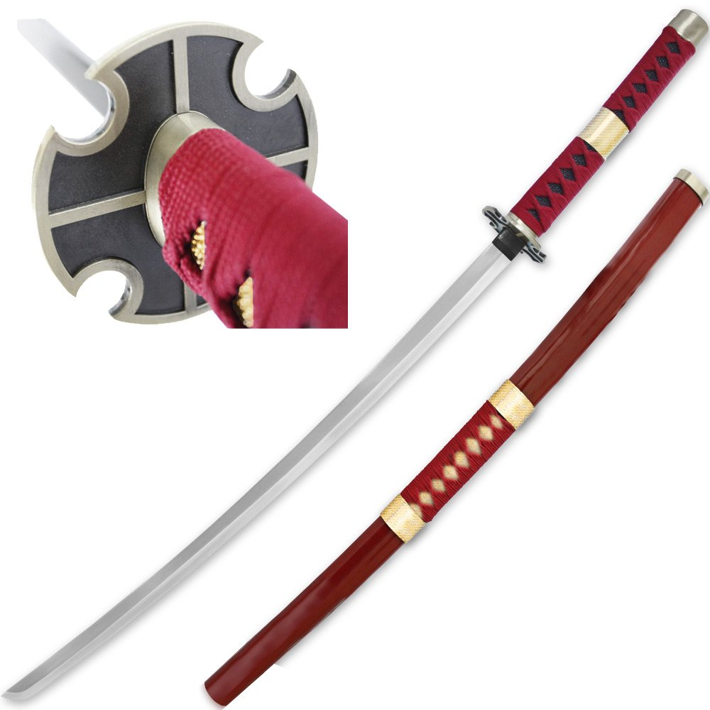 Amazon com new sandai kitetsu foam one piece anime katana saya roronoa zoro sword sports outdoors