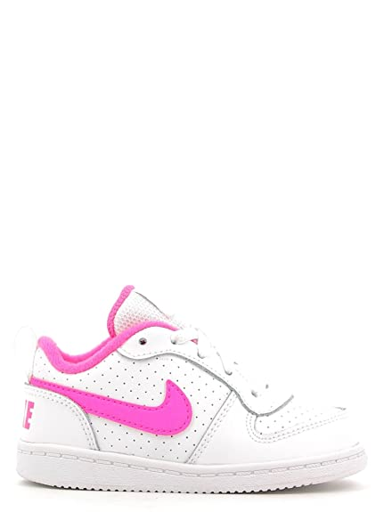 hot sale online d629f 3d031 NIKE Unisex - Bimbi 0-24 Court Borough Low (TD) Scarpe Sportive Bianco  Size: 17: Amazon.it: Scarpe e borse