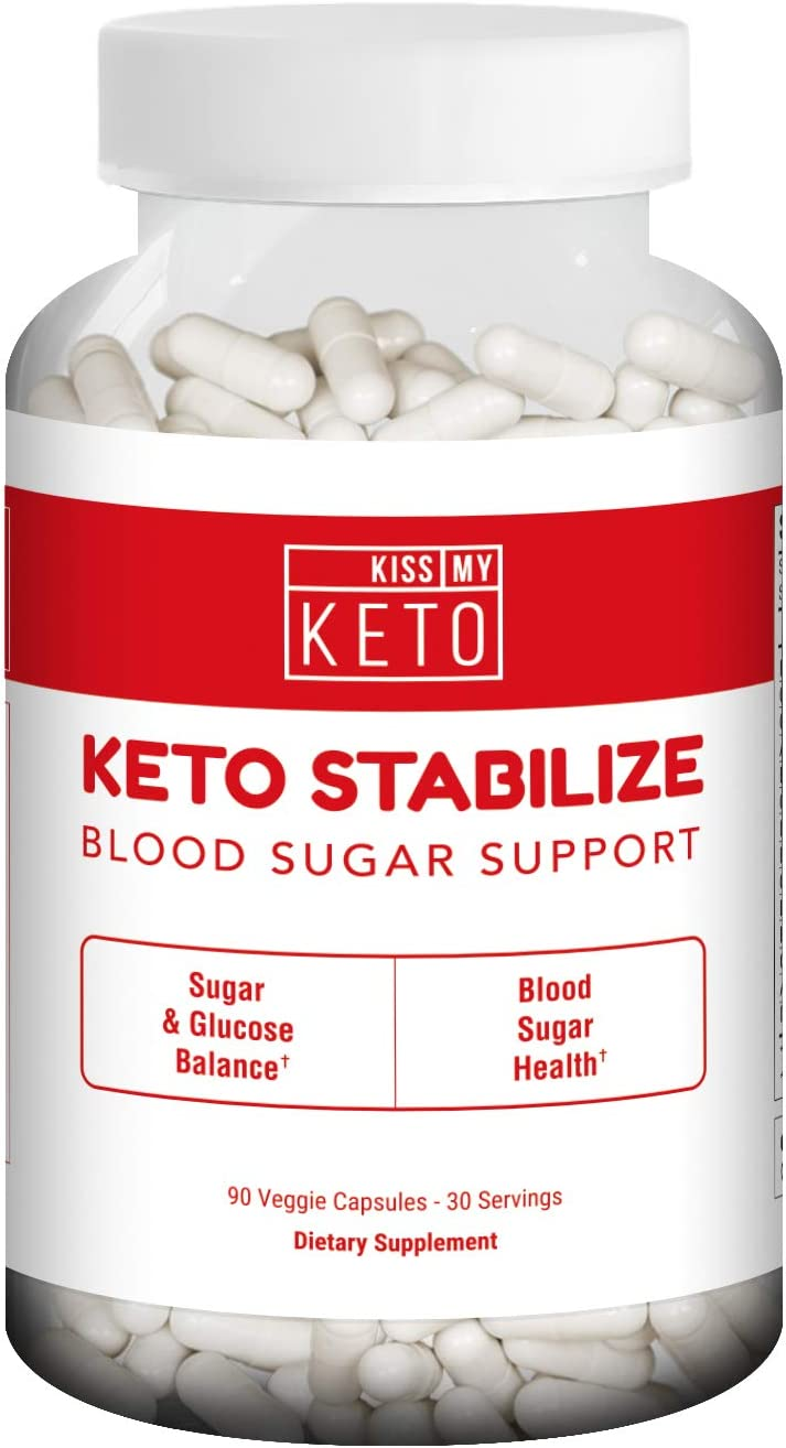 Kiss My Keto Blood Sugar Support Supplement with Berberine HCL 90 Capsules Advanced Blood Sugar Formula Insulin Health, Glucose Support, 14 Herbs Multivitamins 1 Month Supply