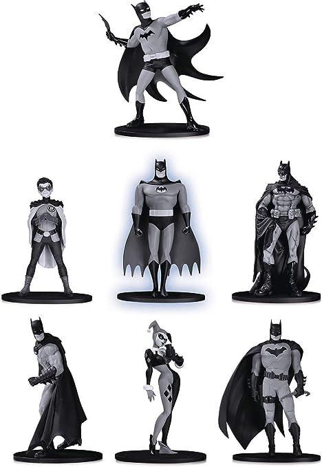 DC Comics Batman Black /& White 7 Pack Mini Figure Set 4