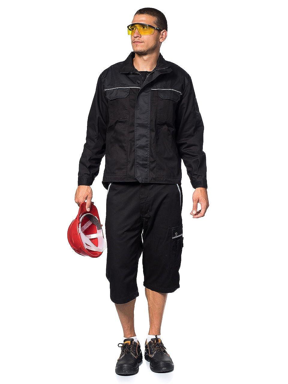 Amazon.com: TMG Heavy Duty Lightweight Work Jackets Coats Black S: Clothing