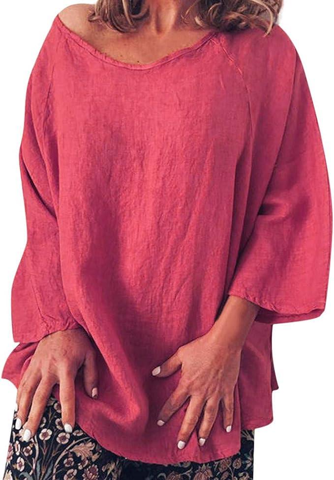 Senza Maniche Camisole Top T-Shirt per Estate Bluse e Camicie Tee Camicetta Casual Maglietta Manica Maniche Corta Top Girocollo Splicing Camicia Estate Darringls Camicia Donna Elegante